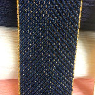 Elastiek marineblauw en goud