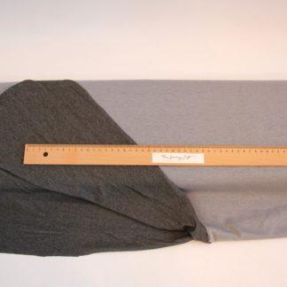 Tshirt stof 2 zijdig grijs