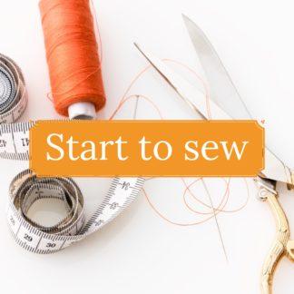 Start to Sew : Altijd al willen leren naaien? Geen zin in een lange cursus? Leer naaien in 1 workshop