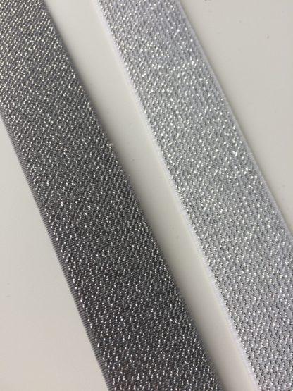 Elastiek 25mm grijs of wit
