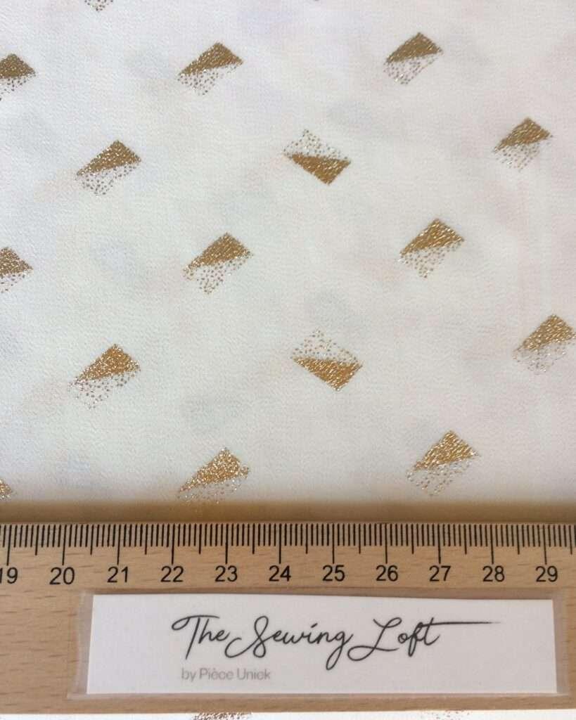 Gouden handgeprinte polyester rechthoekjes