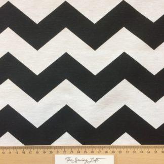 ottoman zigzag zwart wit