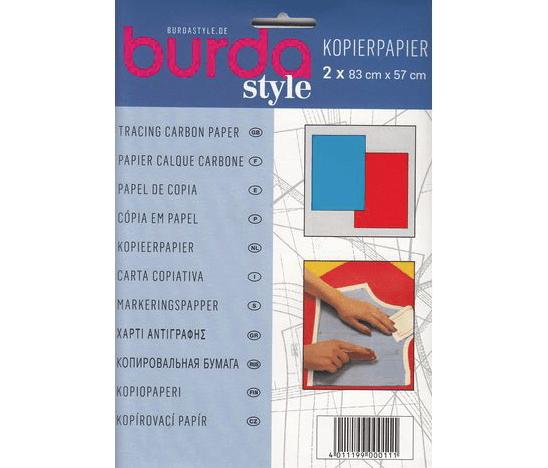 Burda kopieerpapier blauw en rood