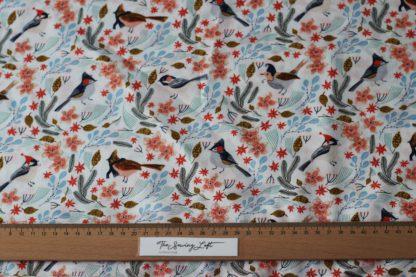 Snowbirds dear Stella katoen stoffen