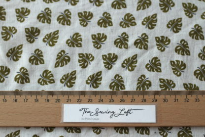 Bladeren Linnen viscose The Sewing Loft