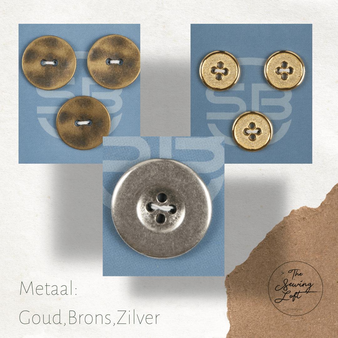 Metaal: zilver, brons en goud