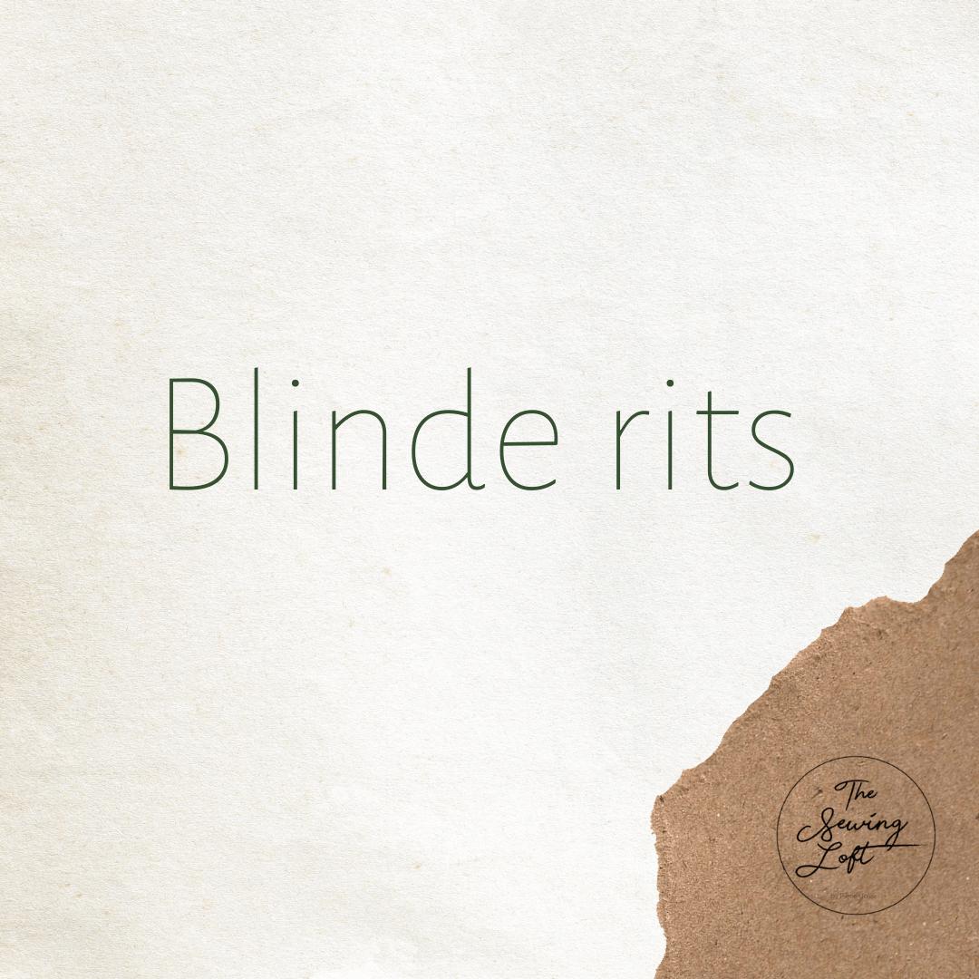 Blinde rits